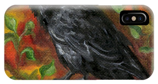 Raven In Autumn IPhone Case