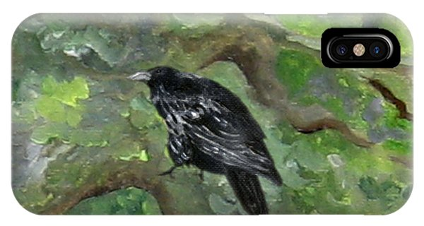 Raven In The Om Tree IPhone Case