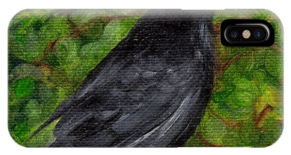 Raven In Wirevine IPhone Case