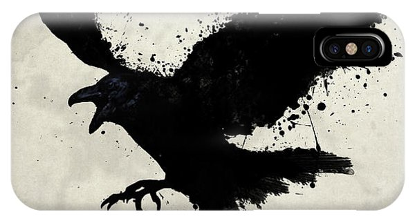 Animal iPhone Case - Raven by Nicklas Gustafsson