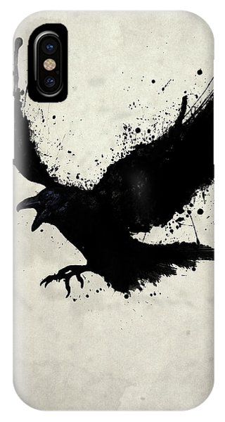 Sketch iPhone Case - Raven by Nicklas Gustafsson