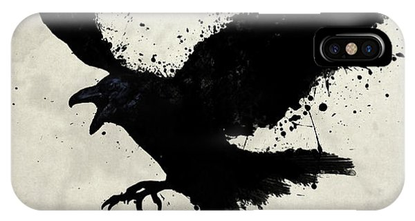 Wildlife iPhone Case - Raven by Nicklas Gustafsson