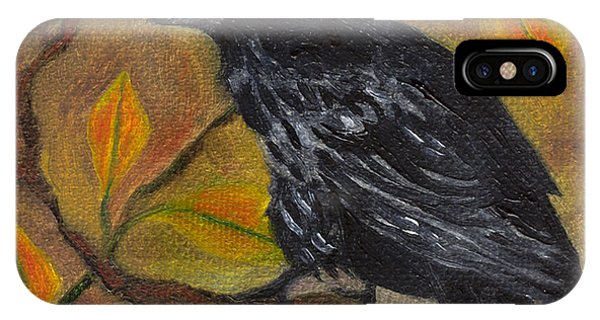 Raven On A Limb IPhone Case