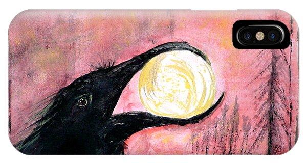 Raven Steals The Sun IPhone Case