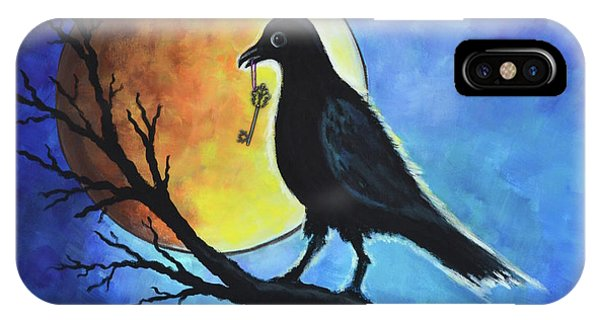 Raven With Key IPhone Case