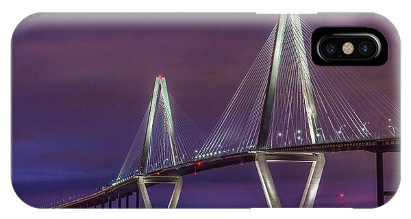Ravenel Bridge At Sunset IPhone Case