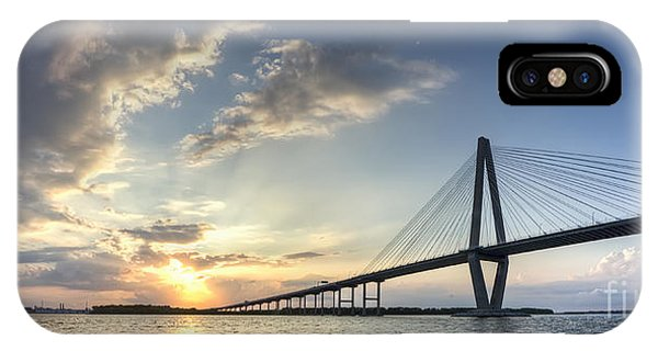 Ravenel Bridge Cooper River Sunset IPhone Case