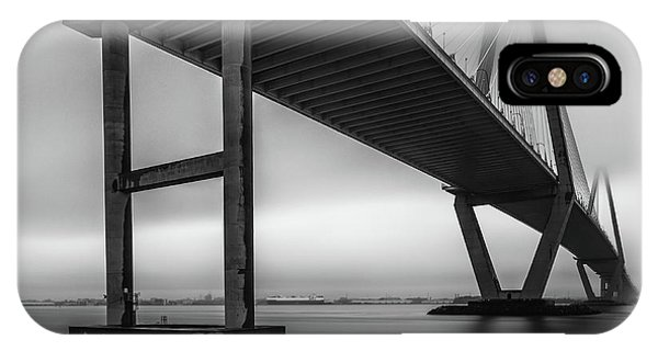 Ravenel Bridge November Fog IPhone Case