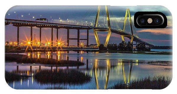 Ravenel Bridge Reflection IPhone Case
