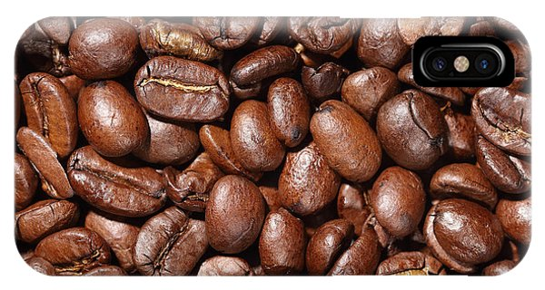 Raw Coffee Beans Background IPhone Case