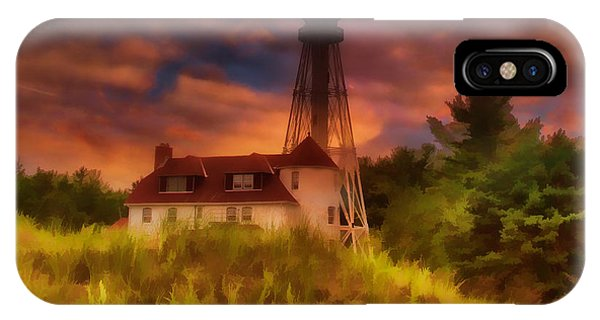 Rawley Point Lighthouse IPhone Case