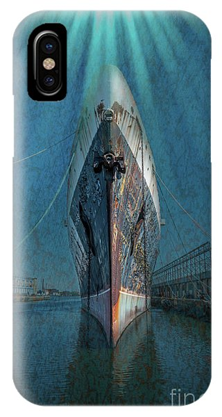 Cruise Ship iPhone Case - Rays Of Hope by Marvin Spates