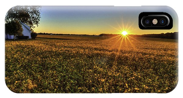 Rays Over The Field IPhone Case