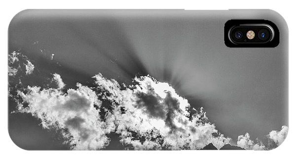 IPhone Case featuring the photograph Rays Through Clouds, Keylong, 2005 by Hitendra SINKAR