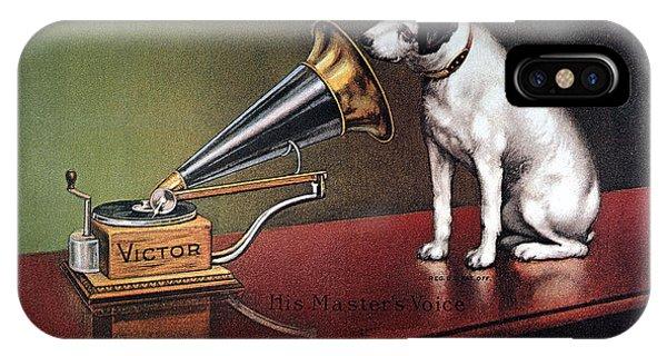 Prairie Dog iPhone Case - Rca Victor Trademark by Granger