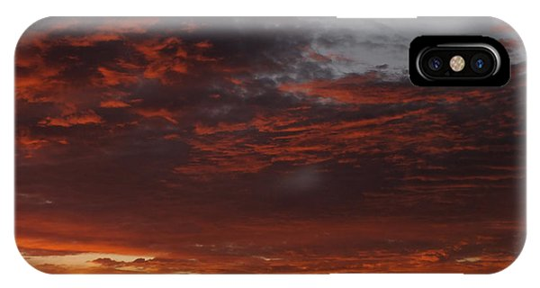 Red Sky iPhone X Case - Reach For The Sky 12 by Mike McGlothlen