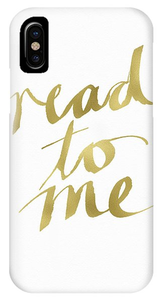 Reading iPhone Case - Read To Me Gold- Art By Linda Woods by Linda Woods