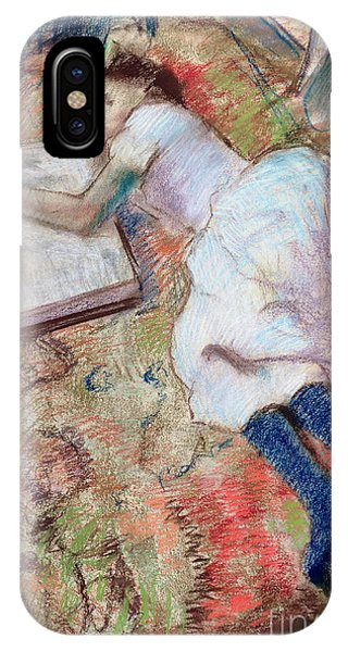 Chaise iPhone Case - Reader Lying Down by Edgar Degas