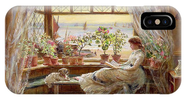 Reading iPhone Case - Reading By The Window by Charles James Lewis
