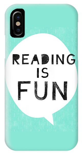Reading iPhone Case - Reading Is Fun- Art By Linda Woods by Linda Woods