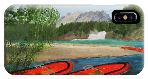 IPhone Case featuring the painting Ready To Ride by Linda Feinberg