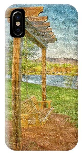 Ready To Swing At Furman, Greenville, South Carolina IPhone Case