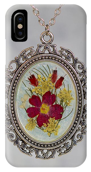 Real Pressed Verbena And Heather Blossoms IPhone Case