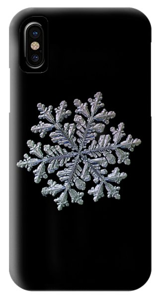 Real Snowflake - Hyperion Black IPhone Case