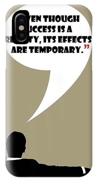 Reality Of Success - Mad Men Poster Don Draper Quote IPhone Case