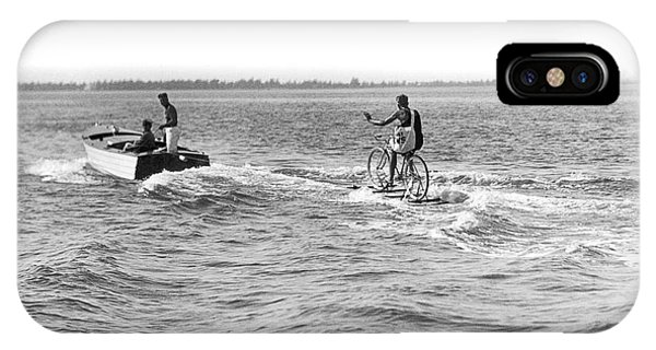 Powerboat iPhone Case - Really Riding The Waves by Jack Painter