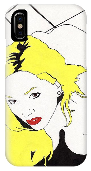 IPhone Case featuring the drawing Rear Window by Stephen Panoushek