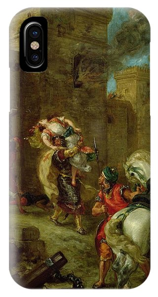 Smoke Fantasy iPhone Case - Rebecca Kidnapped By The Templar by Ferdinand Victor Eugene Delacroix