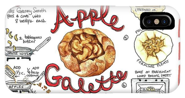 Recipe- Apple Galette IPhone Case