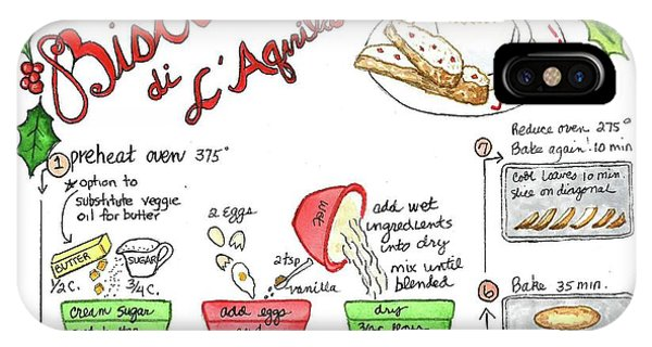 Recipe Biscotti IPhone Case