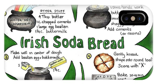 Recipe - Irish Soda Bread IPhone Case
