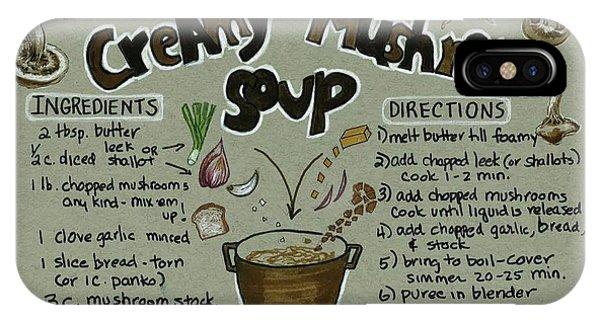 Recipe Mushroom Soup IPhone Case