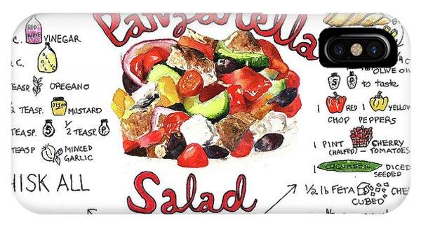 Recipe- Panzanella Salad IPhone Case