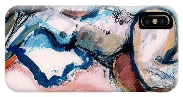 Reclining Multi-coloured Gestural Nude IPhone Case