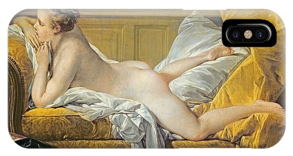 Chaise iPhone Case - Reclining Nude by Francois Boucher