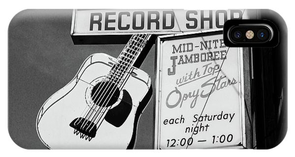 Office Decor iPhone Case - Record Shop- By Linda Woods by Linda Woods