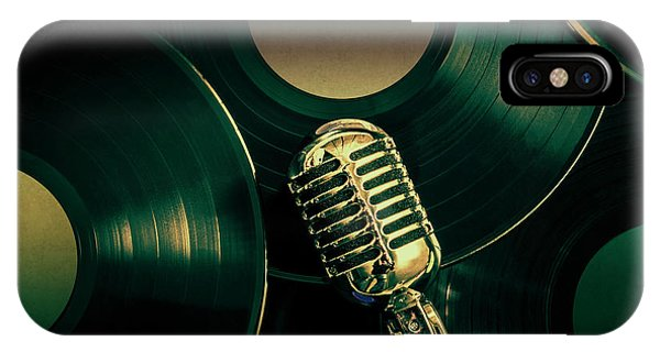 Song iPhone Case - Recording Studio Art by Jorgo Photography - Wall Art Gallery