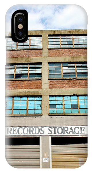 Office Buildings iPhone Case - Records Storage- Nashville Photography By Linda Woods by Linda Woods