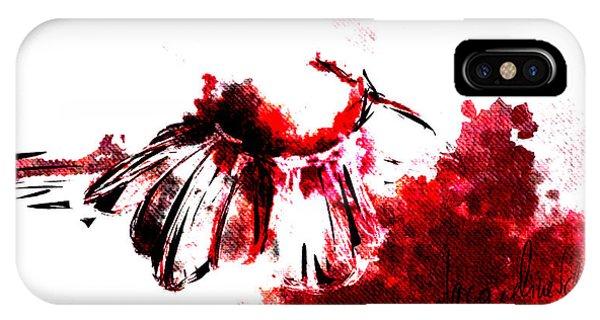 Decorative iPhone Case - Red -1 by Jacqueline Schreiber
