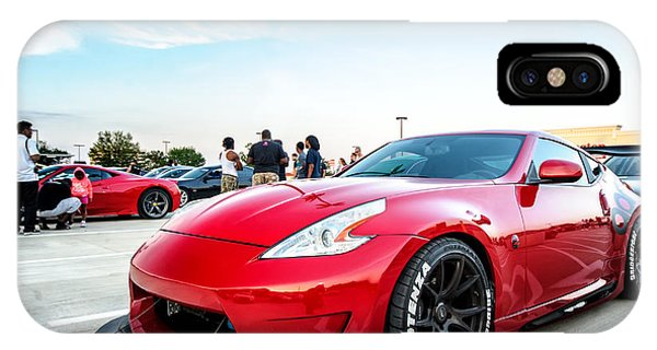 Nissan 370z IPhone Case   Red 370z By Dennis Myers