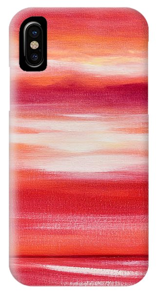 Red Abstract Sunset IPhone Case