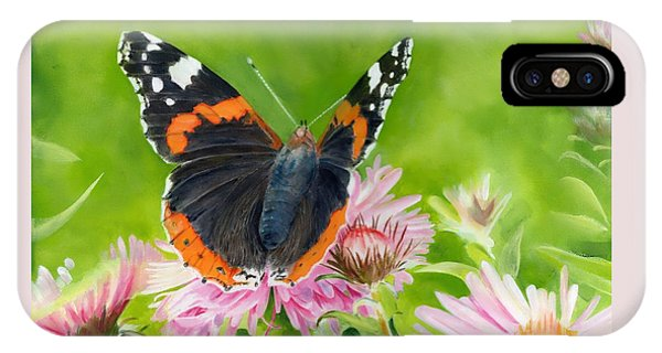 IPhone Case featuring the painting Red Admiral by John Neeve