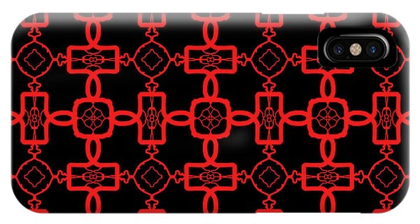 IPhone Case featuring the digital art Red And Black Celtic Cross Pattern by Becky Herrera