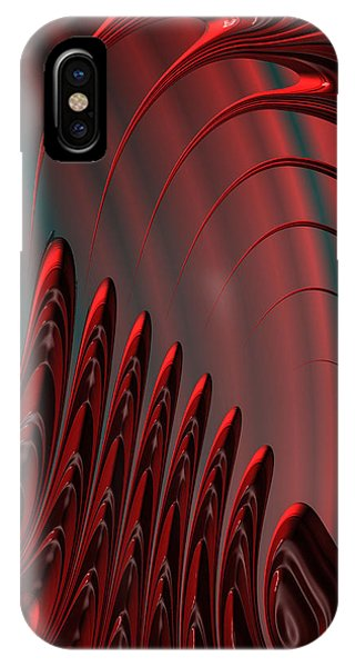 Red And Black Modern Fractal Design IPhone Case