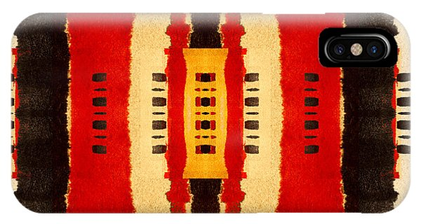 Red And Black Panel Number 4 IPhone Case