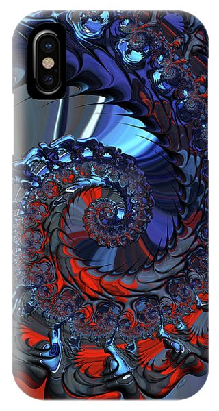 iPhone Case - Red And Blue by Amanda Moore